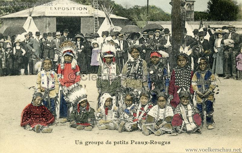1911 Un groupe de petits Peaux Rouges