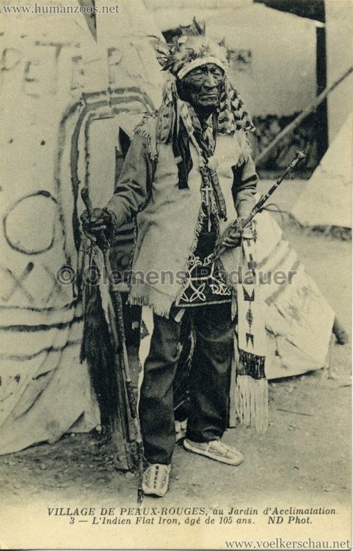 1911 (?) Village de Peaux-Rouges - 3 - L'Indien Flat Iron, âgé de 105 ans