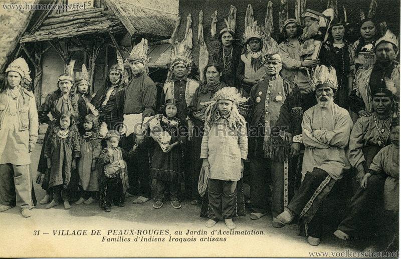 1911 (?) Village de Peaux-Rouges - 31 - Familles d'Indiens Iroquois artisans