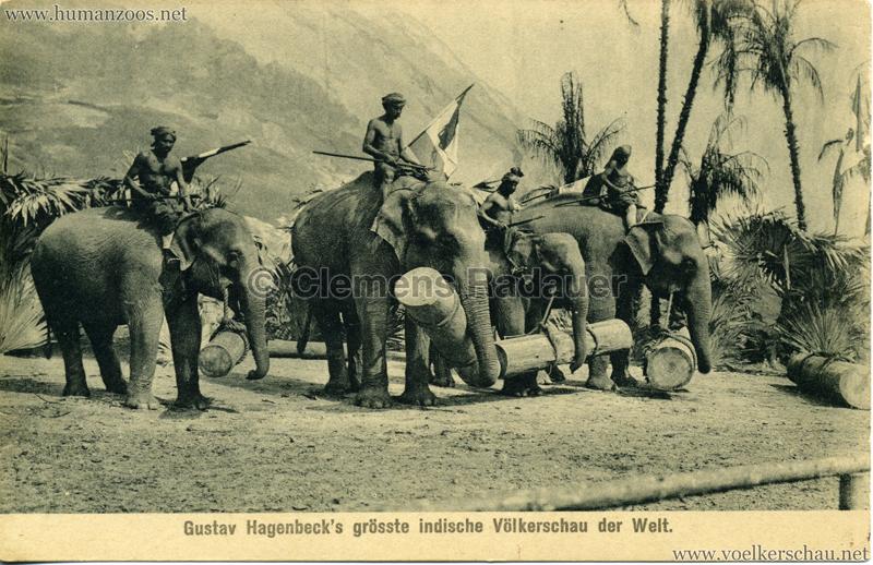 1911/1912 Gustav Hagenbeck's grösste indische Völkerschau der Welt 4