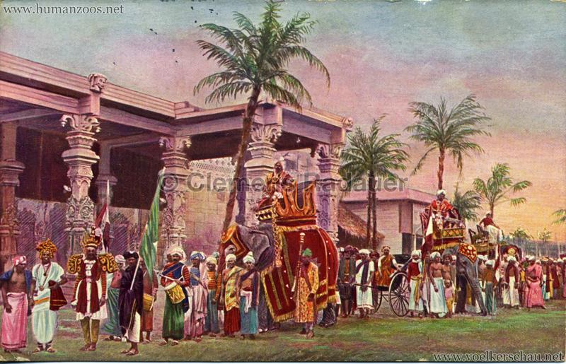 1911/1912 Gustav Hagenbeck's grösste indische Völkerschau der Welt 2