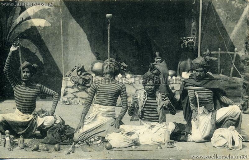 1911:1912 Gustav Hagenbeck's grösste indische Völkerschau der Welt 1912 (?) - Vier Gaukler