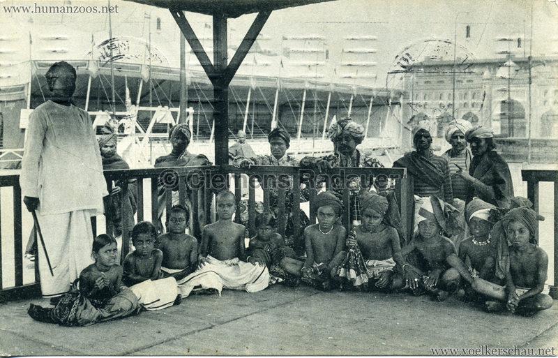 1911:1912 Gustav Hagenbeck's grösste indische Völkerschau der Welt - Lehrer mit Schülern VS
