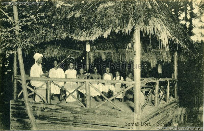 1912 Bayrische Gewerbeschau München - Somali Dorf - Schule