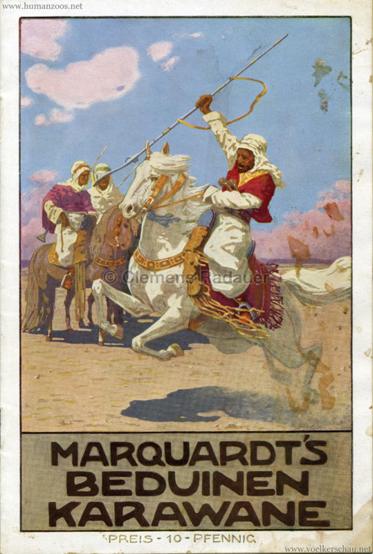 1912 Marquardt's Beduinen Karawane Programm