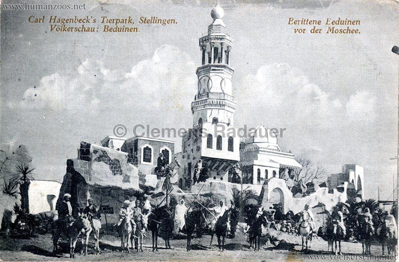 1912 Völkerschau Beduinen - Berittene Beduinen vor der Moschee 1