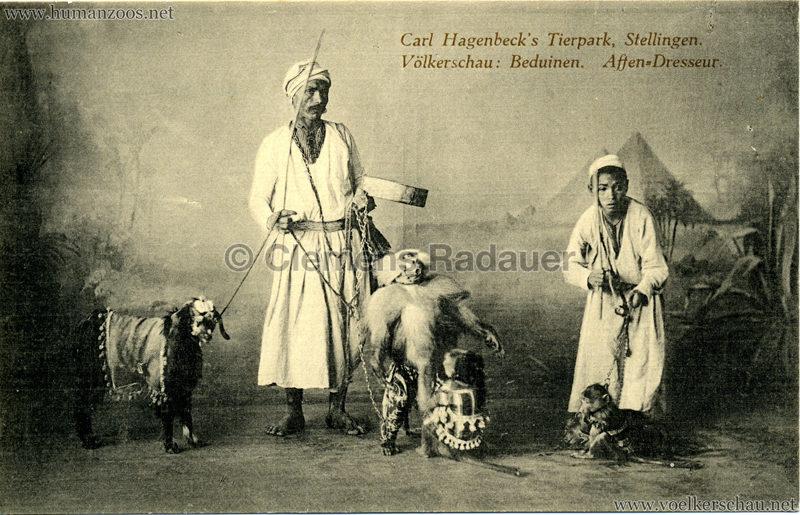 1912 Völkerschau Beduinen - Affen-Dressur