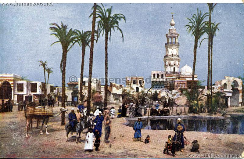 1912 Völkerschau Beduinen - Stadt(…) mit Moschee und Minaret