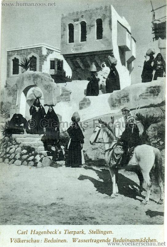 1912 Völkerschau Beduinen. Wassertragende Beduinenmädchen