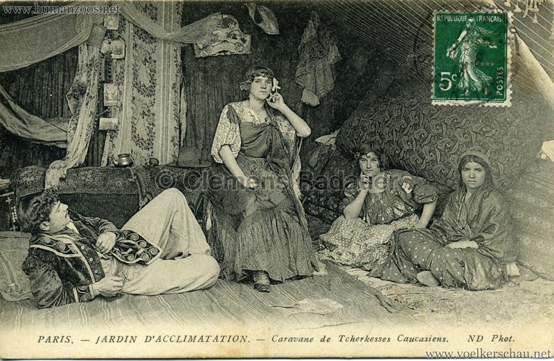 1913 Caravane de Tcherkesses Caucasiens - Jardin d'Acclimatation - 1