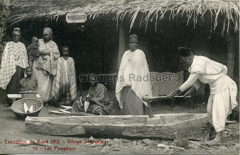 1913 Exposition de Gand - Village Sénégalais - 10. Les Piroguiers