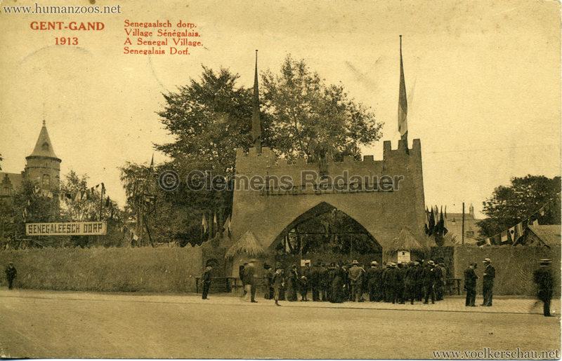 1913 Exposition de Gand - Village Sénégalais 2