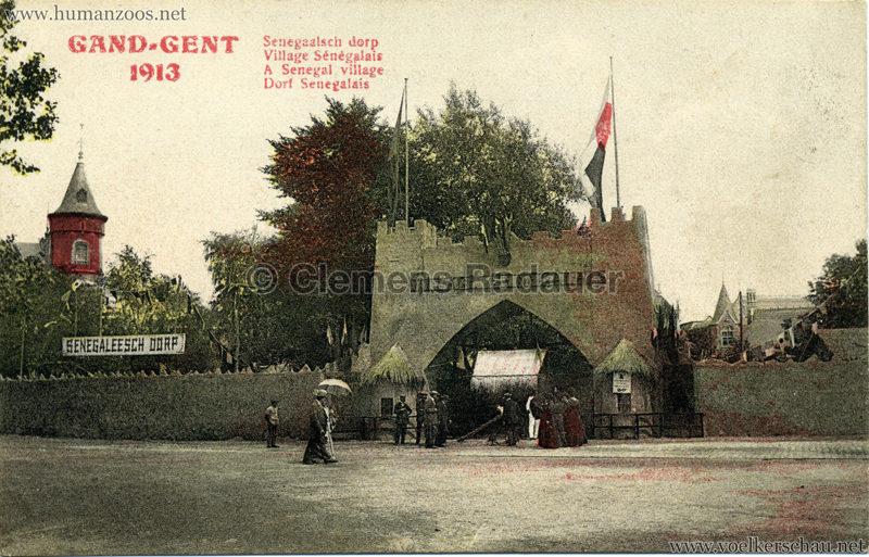 1913 Exposition de Gand - Village Sénégalais 1