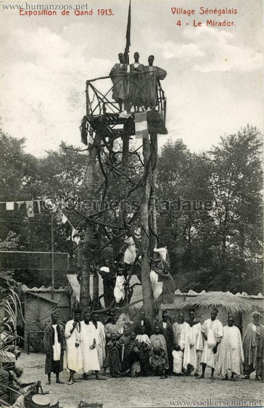1913 Exposition de Gand - Village Sénégalais - 4. Le Mirador