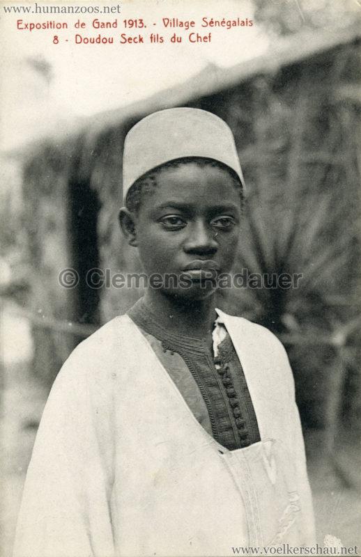 1913 Exposition de Gand - Village Sénégalais - 8. Doudou Seck fils du Chef