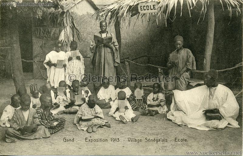 1913 Exposition de Gand - Village Sénégalais - Ecole