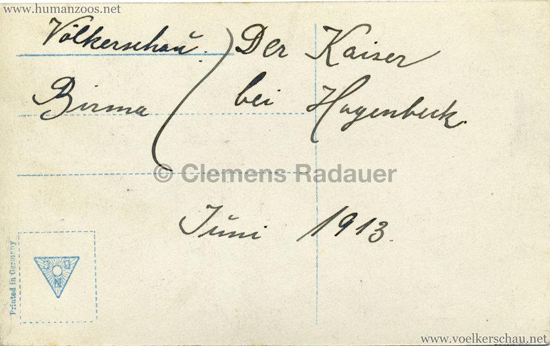 1913 Völkerschau Birma (Hagenbeck) - 4650