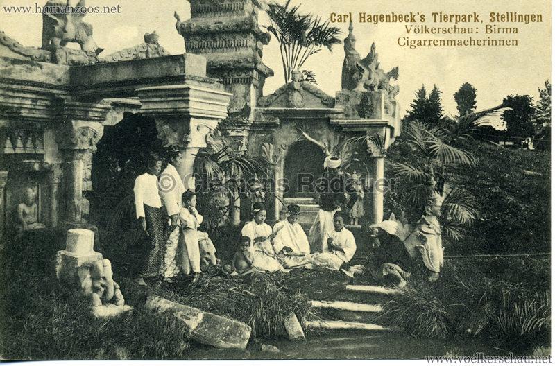 1913 Völkerschau Birma (Hagenbeck) - No 3 Cigarrenmacherinnen