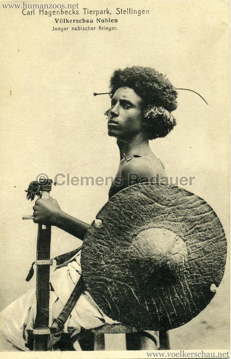 1913/1914 Völkerschau Nubien - Junger nubischer Krieger
