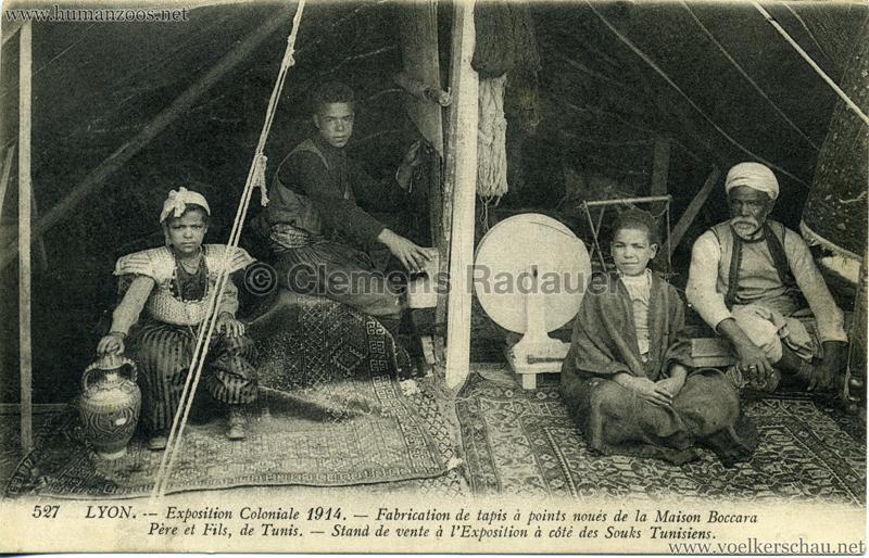 1914 Exposition Coloniale Lyon - Fabrication de tapis à points noués de la Maison Boccara