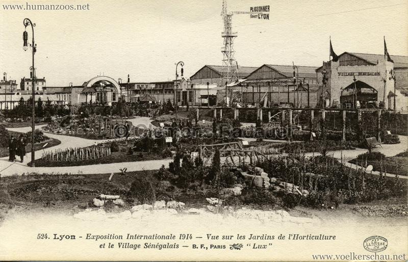 1914 Exposition Coloniale Lyon - Jardin & Village Sénégalais
