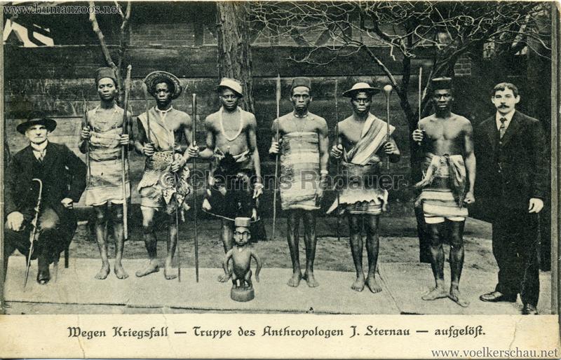 1918 Wegen Kriegsfall - Truppe des Anthropologen J. Sternau - aufgelöst