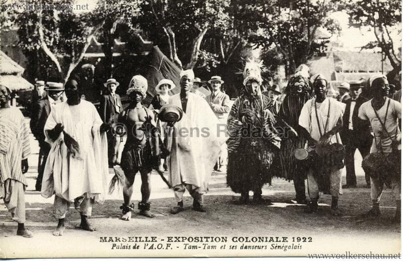 1922 Exposition Coloniale Marseille - Palais de l'A.O.F. - Tam-Tam et ses danseurs Sènégalais