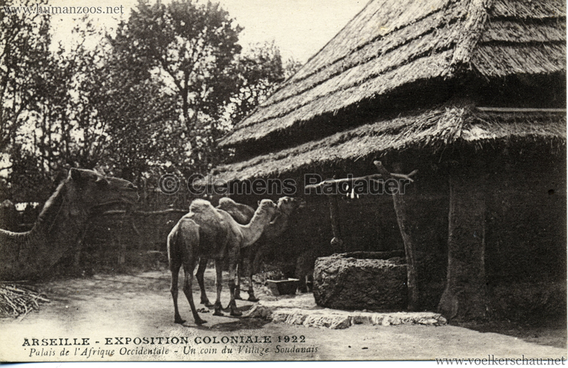 1922 Exposition Coloniale Marseille - Palais de l'Afrique Occidentale - Un coin du Village Soudanais