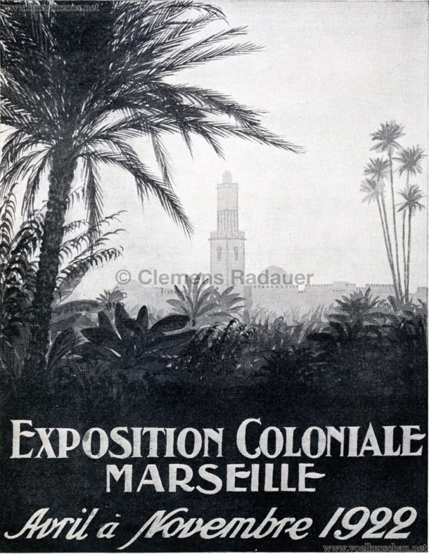 1922 Exposition Coloniale Marseille Reklame 1