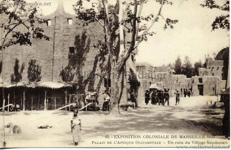 1922 Exposition Coloniale de Marseille - Palais de L'Afrique Occidentale - Un coin du Village Soudanais