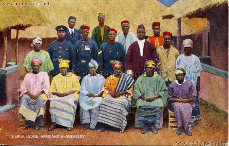 1924 British Empire Exhibition - Sierra Leone Africans