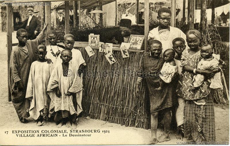 1924 Exposition Coloniale Strasbourg - Village Africain - 17. Le Dessinateur