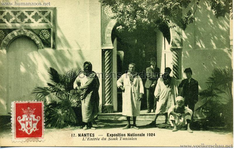 1924 Exposition Nationale Nantes 17. L'Entrée du Souk Tunisien