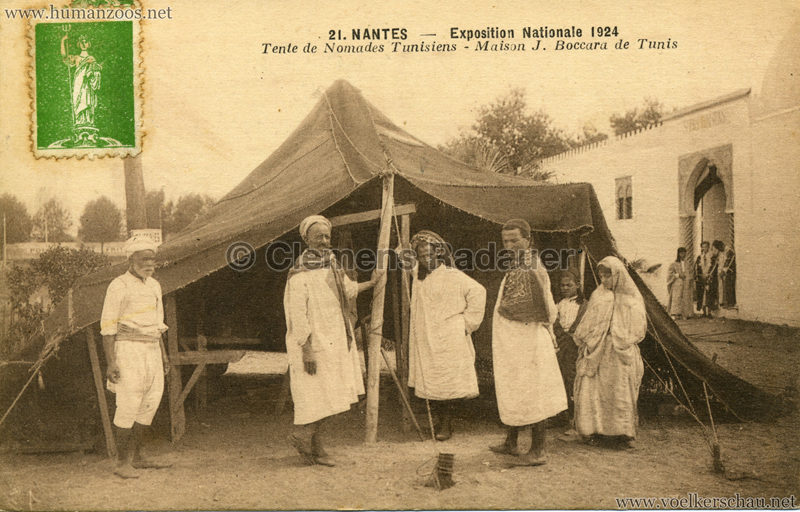 1924 Exposition Nationale Nantes 21. Tente de Nomades Tunisiens - Maison J. Boccara de Tunis