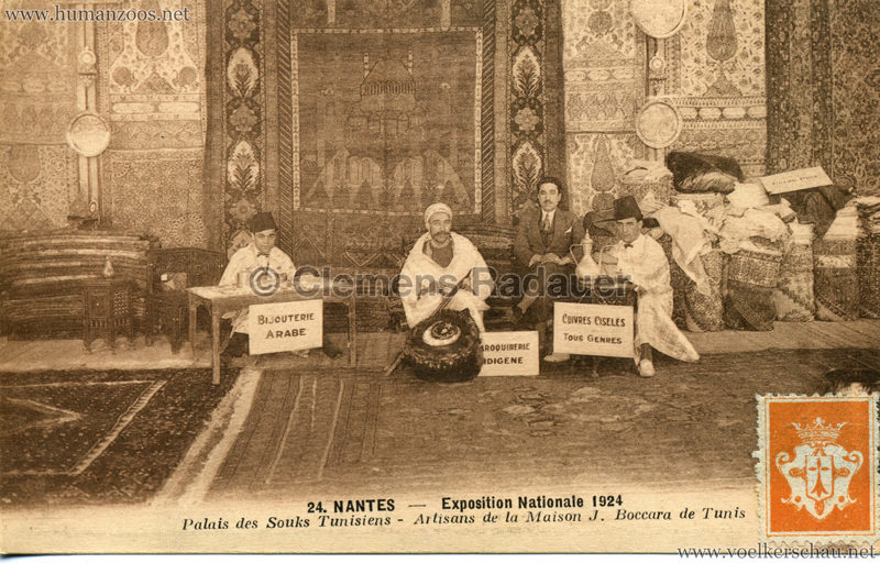 1924 Exposition Nationale Nantes 24. Palais de Souks Tunisiens - Artisans de la Maison J. Boccara de Tunis