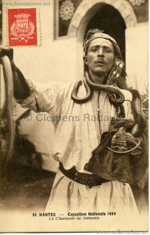 1924 Exposition Nationale Nantes 33. Le Charmeur de Serpents