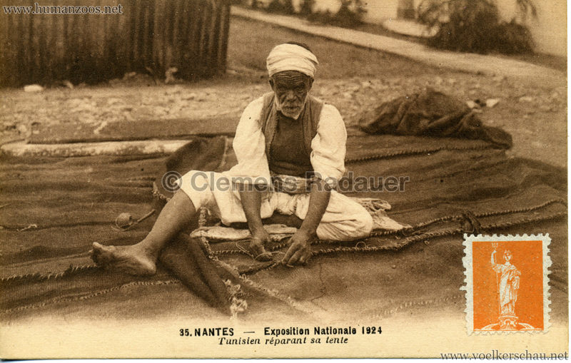 1924 Exposition Nationale Nantes 35. Tunisien réparant sa tente