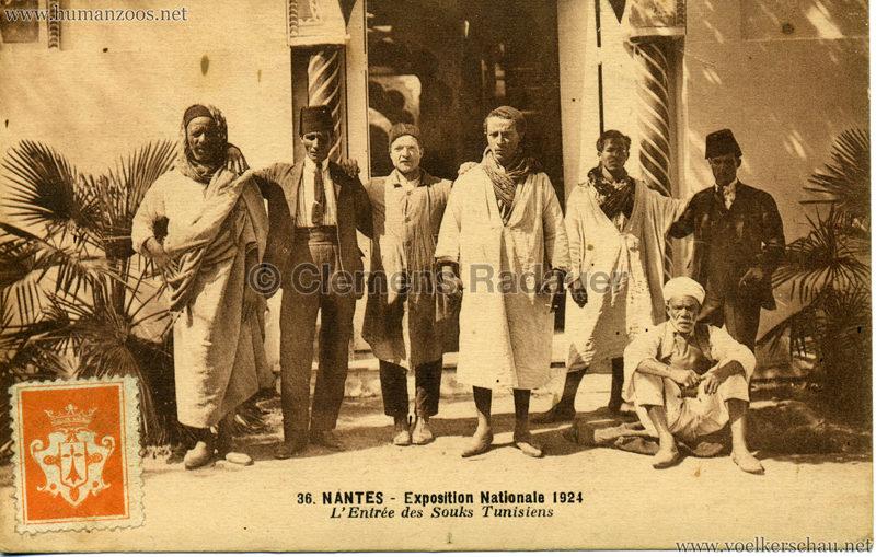 1924 Exposition Nationale Nantes 36. L'Entrée des Souks Tunisiens