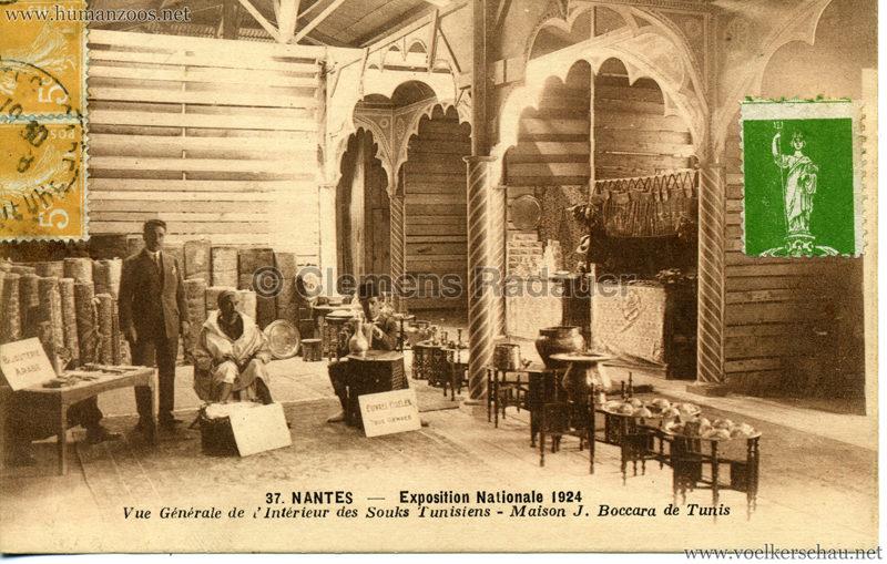1924 Exposition Nationale Nantes 37. Vue Générale de l'Interieur des Souks Tunisiens - Maison J. Boccara de Tunis