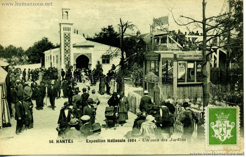 1924 Exposition Nationale Nantes 56. Un coin des Jardins