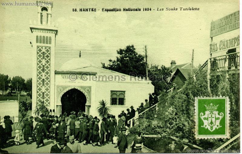 1924 Exposition Nationale Nantes 58. Les Souks Tunisiens