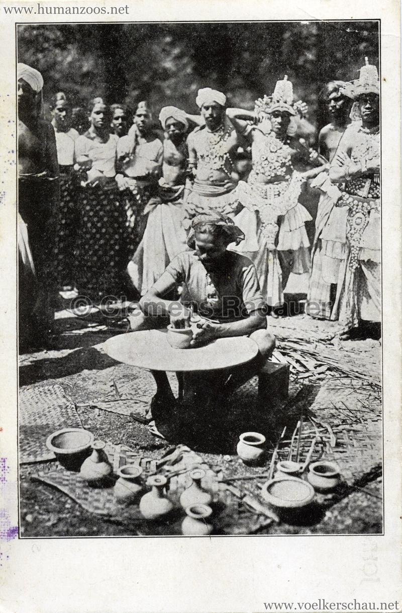 """1924 John Hagenbeck's """"Ceylon"""" - Singhalesische Töpfer"""