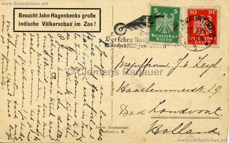 1925 Besucht John Hagenbecks indische Völkerschau im Zoo