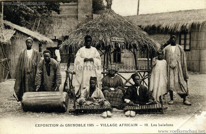 1925 Exposition Internationale Grenoble - Le Village Africain - Les Balafons
