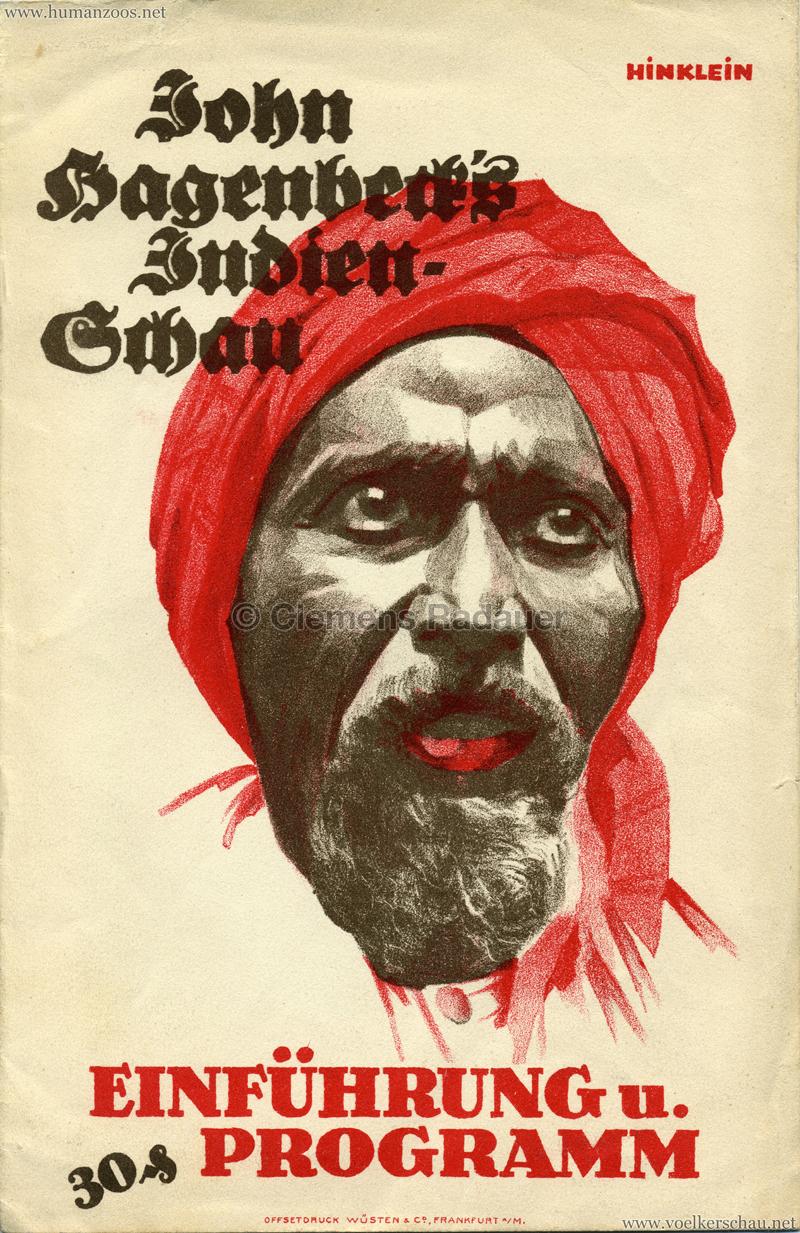 1926 John Hagenbeck's Indienschau - Einführung und Programm