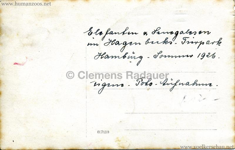 1926 John Hagenbeck's Indienschau - FOTO Elefant RS