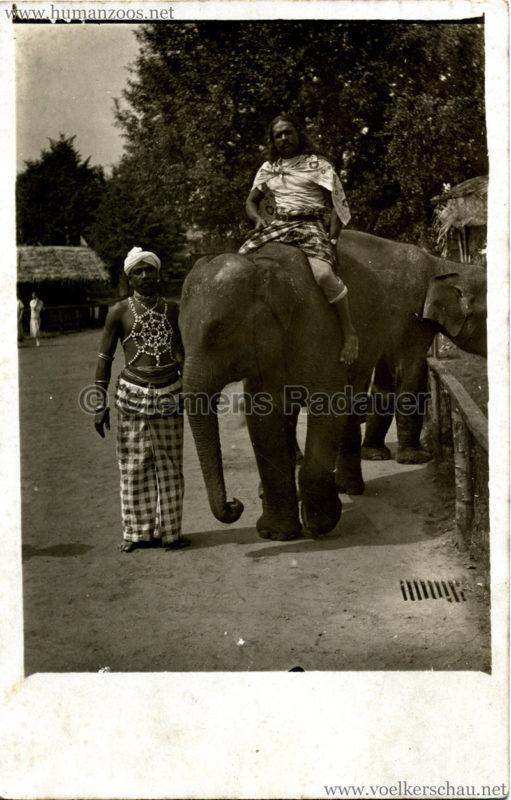 1926 John Hagenbeck's Indienschau - FOTO Elefant VS