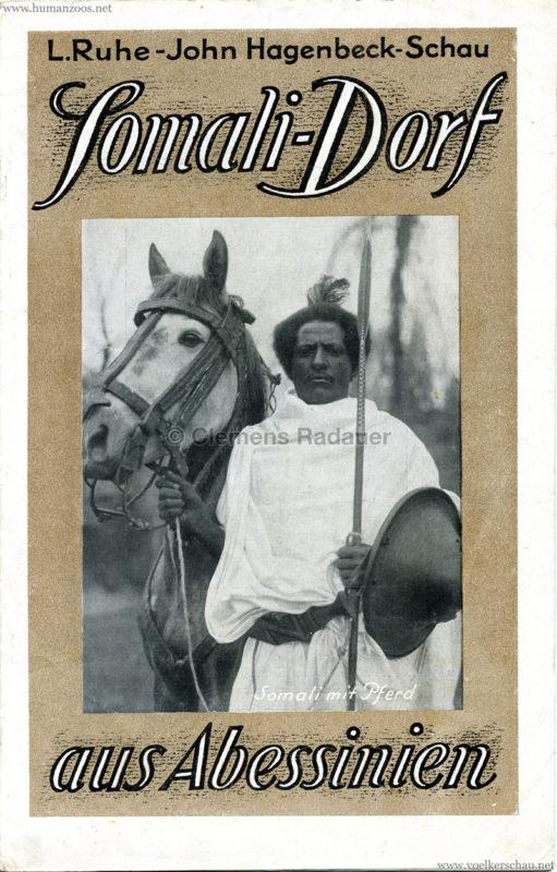 1926 L. Ruhe - John Hagenbeck's Somali-Dorf aus Abessinien - PROGRAMMHEFT