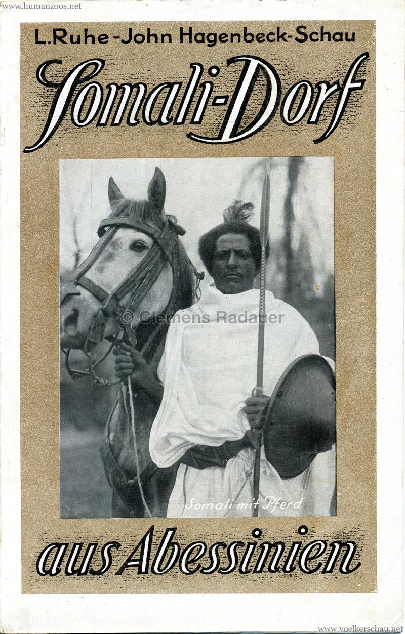 1926 L. Ruhe - John Hagenbeck's Somali-Dorf aus Abessinien