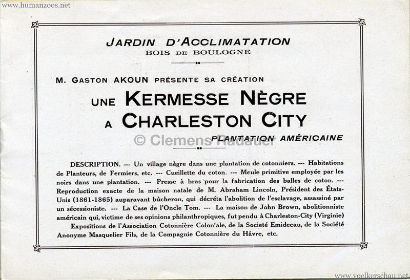 1927 Kermesse Nègre (Jardin d'Acclimatation) - S. 4